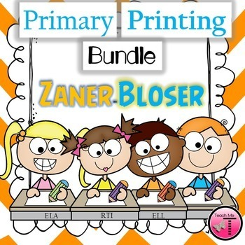Zaner Bloser Uppercase & Lowercase Handwriting Practice~Bundle