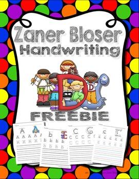 Zaner Bloser Handwriting Worksheets Uppercase and Lowercas