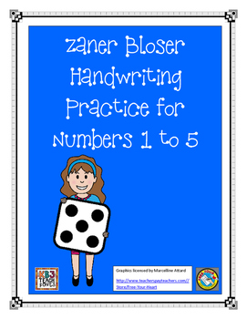 Zaner Bloser - Practice Numbers 1 to 5
