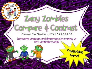 Zany Zombie Comparisons PowerPoint Game