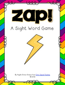 Zap! A Sight Word Game
