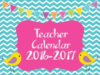 Chevron School Calendar 2016-2017