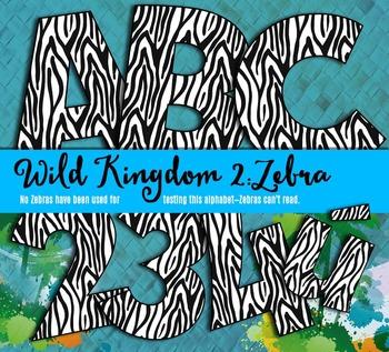 Zebra Alphabet – Full Set of Characters — Latin, Numbers,