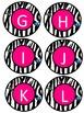 Zebra Alphabet Round Labels