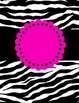 FREE EDITABLE Zebra Binder Covers