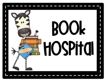 Zebra Book Hospital Label