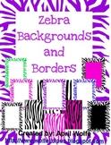 Zebra Borders and Backgrounds