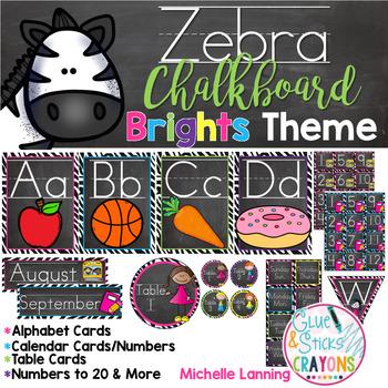 Zebra Bright Theme Classroom Decor*updated*