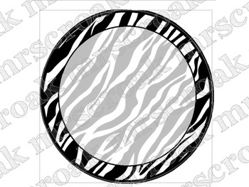Labels: Zebra circles, 9 per page