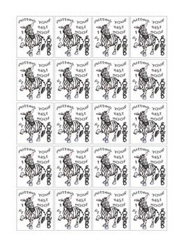 Zebra Classroom PBS Ticket System - 1 Point Printable Tickets