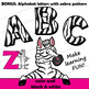 Zebra Clip Art with Signs - Letter Z in Alphabet Animal Series