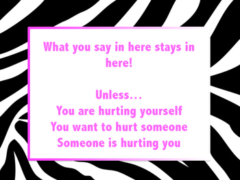 Zebra Counselor Confidentiality Sign