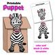 Zebra Craft Activity | Paper Bag Puppet
