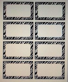 Zebra Editable Tags