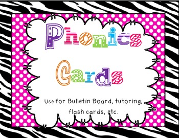 Zebra Phonics Cards