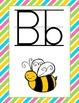 Bright Striped Alphabet