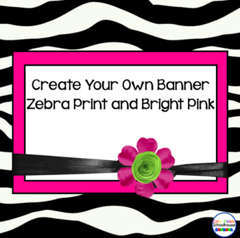 Zebra Print Banner