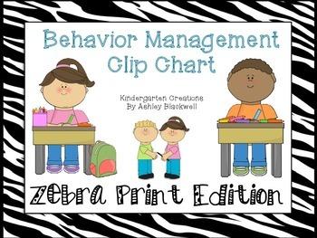 Zebra Print Behavior Clip Chart