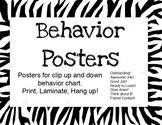 Zebra Print Behavior Posters