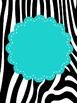 Zebra Print Binder Covers