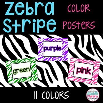 Color Posters Zebra Print