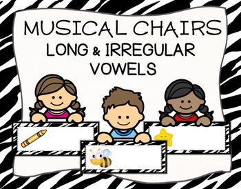 Long and Irregular Vowel Sounds Musical Chairs Game