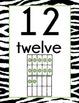 Zebra Print Number Display Signs