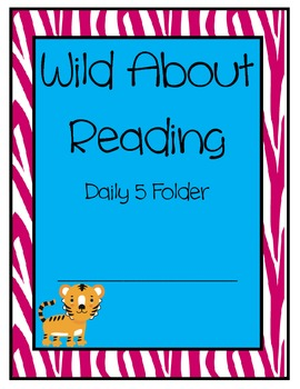 """Zebra Print """"Wild About Learning"""" Folder, Journal and Bind"""