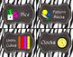 Zebra Supply and Math Manipulative Bin Labels
