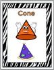 Zebra Theme 2D Shapes and 3D Shapes - Geometry Posters - G