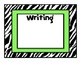 Zebra Theme Learning Objectives Posters