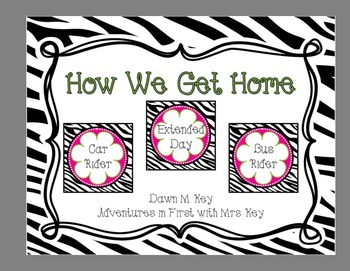 Zebra and Flower Themed-How We Get Home {Transportation} {