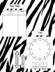 Zebra Themed Math Study Folder