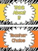 Zebra and Chevron Behavior Clip Chart FREEBIE