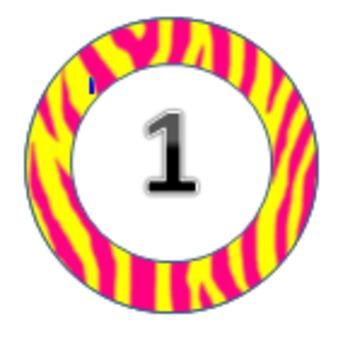 Zebra themed circles 1-31