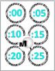 Telling Time Zebra Theme Clock Labels