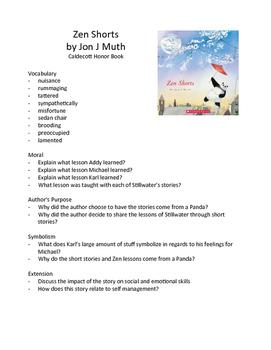 Zen Shorts by Jon J Muth - Teaching Literary Skills with P