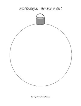 Zentangle Holiday Ornament Art