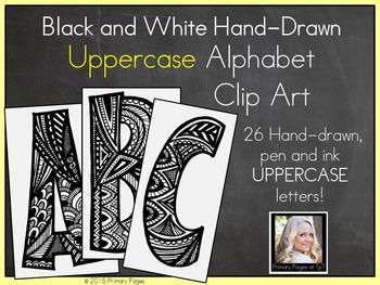Uppercase Alphabet Clip Art