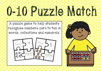 Zero to Ten Number Puzzle Match
