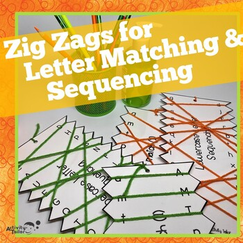 Zig Zags FREEBIE for Upper and Lowercase Letter Matching a