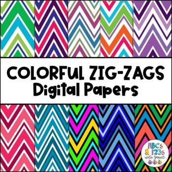 Zig Zags Galore Digital Paper Pack