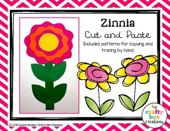 Zinnia Cut and Paste