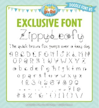 Zip-A-Dee-Doo-Dah Designs Doodle Font 3 — Includes Commerc