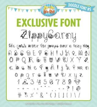 Zip-A-Dee-Doo-Dah Designs Doodle Font 5 — Includes Commerc