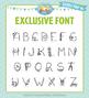 Zip-A-Dee-Doo-Dah Designs Doodle Font 6 — Includes Commerc