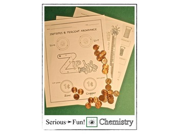 Science Math Activity (Isotopes and Weighted Averages) Zip Lab