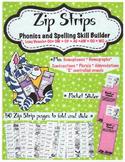 Zip Strip Phonics and Spelling Skill Builders - Long Vowels