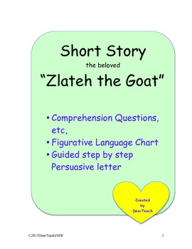Text Dependent Questions for Zlateh the Goat!