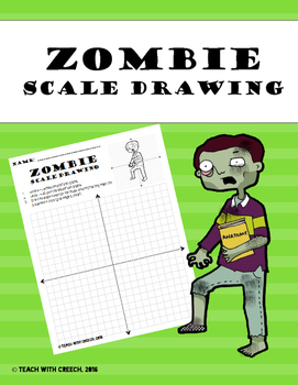 Zombie Boy Scale Drawing